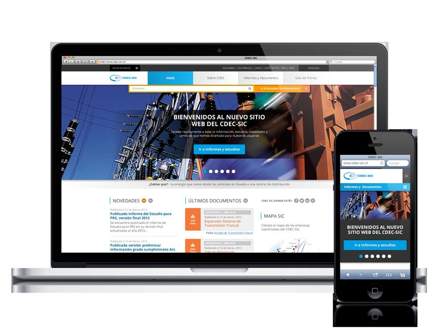 Diseño web responsive Coordinador Eléctrico Nacional