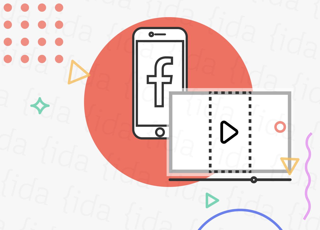 iconos que hacen referencia a Facebook y Smart crop.